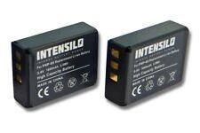AKKU [2 Stück|1600mAh|intensilo] fuer FUJI Fujifilm Finepix SL280, Finepix SL300