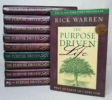 The Purpose Driven Life Lot Of 10 Copies Book Club Bible Study Group Rick Warren