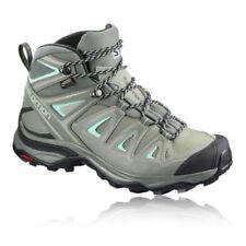 Scarpe da uomo grigie in sintetico di trekking, escursione, arrampicata