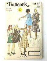 Butterick Pattern 5887 Misses Dress Jumper 14 High Waist Wrap Uncut FF 1960s