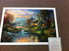 "Thomas Kinkade "" Nature Paradise "" Signed & Numbered Limit Edition Lithograph"