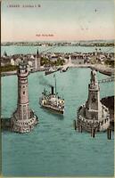2309: Ansichtskarte Postkarte Lindau im Bodensee Bad Schachen 1913