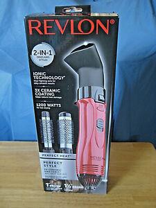 Revlon Ionic Hot Air Brush, 2 in 1, RV440RED, 1200 Watts