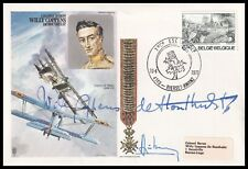 Top Belgian WWI Ace WILLY COPPENS DE HOUTHULST DSO MC Signed on own RAF Cover