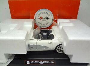 1958 Corvette White LTD 1:12 scale model die cast by Solido 1/12 diecast 1:12th