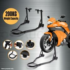Steel Heavy Duty Motorcycle Motorbike Front Stand Paddock Race Lift Under Fork