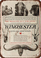 """7"""" x 10"""" Metal Sign - 1910 Winchester Guns and Ammunition - Vintage Look Reprodu"""