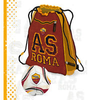 ROMA pallone+mochila extensible di 6cm con cremallera, producto oficial cm 42x36