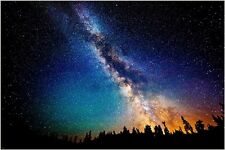 outer space MILKY WAY inspirational poster STARRY SKY pastel lights 24X36