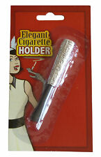 Metal Flapper 1920's Style Short Elegant Cigarette Holder Fancy Dress Accessory