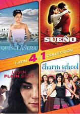 4 in 1 Latin (DVD) Sueño Quinceañera Lies in Plain Sight Charm School NO CASE