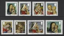 GREAT BRITAIN 2017 CHRISTMAS SET OF 8 SELF ADHESIVE  FINE USED