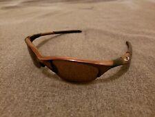 Oakley Half Jacket 1.0 Black Chrome w/ Gold polarize Lenses Sunglasses Very Rare