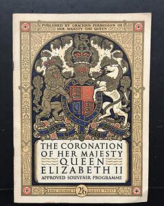 Queen Elizabeth II Coronation 1953-approved Souvenir Programme-collectible