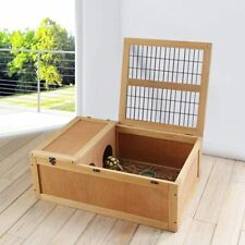 Wooden Tortoise House Turtle Habitat Reptile Cage With Enclosure Indoor Outdoor