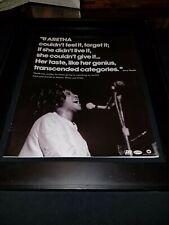 Aretha Franklin Rare Original Atlantic WMG Promo Poster Ad Framed!