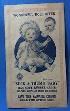 Vintage Original IDEAL SUCK-a-THUMB BABY DOLL Good Food COUPON Lincoln Neb