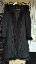Manteau doudoune Noir avec fausse fourrure ZARA Taille S