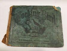 Antique 1871 The Mocking Bird Songbook by William Oscar Perkins WM. A. Pond & Co