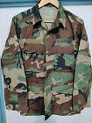 Внешний вид - Genuine US Woodland Ripstop Shirt Coat - X-Small Short - NOS Hot Weather BDU