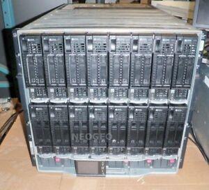 HP C7000 Server Blade Enclosure-16x BL460C G8-2x 12 Core E5-2697 V2 2.7GHz-384GB