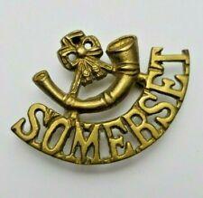 WW1 Somerset Light Infantry Regiment Shoulder Title - Indian Made - 3 Lugs Rare