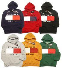 SPECIAL!!! Tommy Hilfiger Denim Men's Brooks Logo Print Fleece Pullover Hoodie