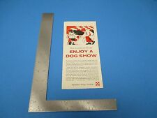 Vintage How To Understand And Enjoy A Dog Show By Purina Dog Chow Brochure S2135