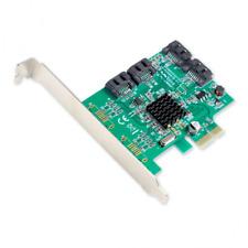 Syba Contrôleur SATA III 4 ports PCI-e 2.0 x1 6 Gbps avec équerres Low Profile