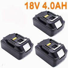 3x For Makita 18V 4.0AH BL1840 BL1830 BL1815 LXT Lithium Ion Battery Cordless