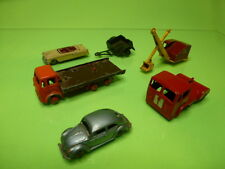 LOT of 6 MADE IN ENGLAND VEHICLES - CRANE VOLKSWAGEN TRUCK - NICE CONDITION