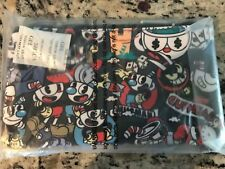 New Loungefly Cuphead Character Print Pencil Case Coin Bag Cosmetic Case