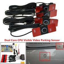 Car Video Parking Reverse Backup Assistant Radar Alarm System with 4 Flat Sensor