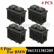 4Pcs 5PIN Illuminated Power Window Switch For BMW E23 E24 E28 E30 #61311381205