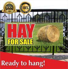Hay For Sale Banner Vinyl Mesh Banner Sign Fresh Cut Grass Alfalfa Bales Horse