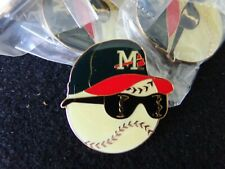 VINTAGE Mississippi Braves Minor League Pins Lot of 10 in Case  #1 FREE SHIPPING