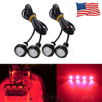 4x RED LED Boat Light Waterproof Outrigger Spreader Transom Underwater Marine