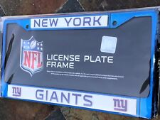 1 New York Giants Blue Metal Vehicle License Plate Frame Nice 3D Graphics