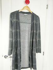 Sandwich Women's Grey Skinny Knit  Checked Long LagenLook  Open Cardigan Small