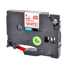 1pk Compatible Brother P Touch Tz 222 Tze 222 Red On White Label Tape 9mm
