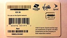 Sprint/Boost/Virgin/TING Nano/4FF SIM Card  SIMGLW436C 63.09a
