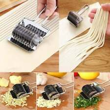 Stainless Steel Noodle & Dough Cutter Slicer Roller Style Tool Pasta & Veggies