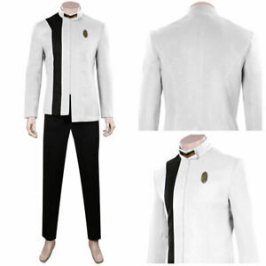 Star Trek: Discovery S4 Cosplay Costume White Men Uniform Outfits Halloween Suit