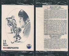 1986-87 Kraft Mark Messier in Original Issue Cello Pack Edmonton Oilers