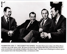 Bart Starr with President Richard Nixon and Friends-Feb 13,1969 Wire-Photo