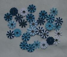 Flower Embellishments Blue, approx 30 pieces, with Rhinestones