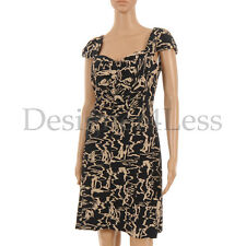 MARC BY MARC JACOBS Dress Navy Blue & Taupe Pattern Cotton Size Small SW 178