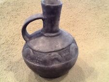 Early Black Pottery Jug, or Vessel, Country Unknown, Artifact- Antique