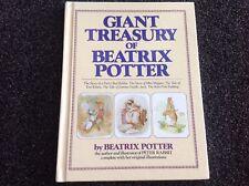 Giant Treasury of Beatrix Potter HC Book Peter Rabbit Jemima vintage 1984