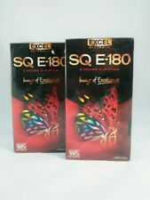 BLANK EXCEL SQ E-180 VHS VIDEO TAPES